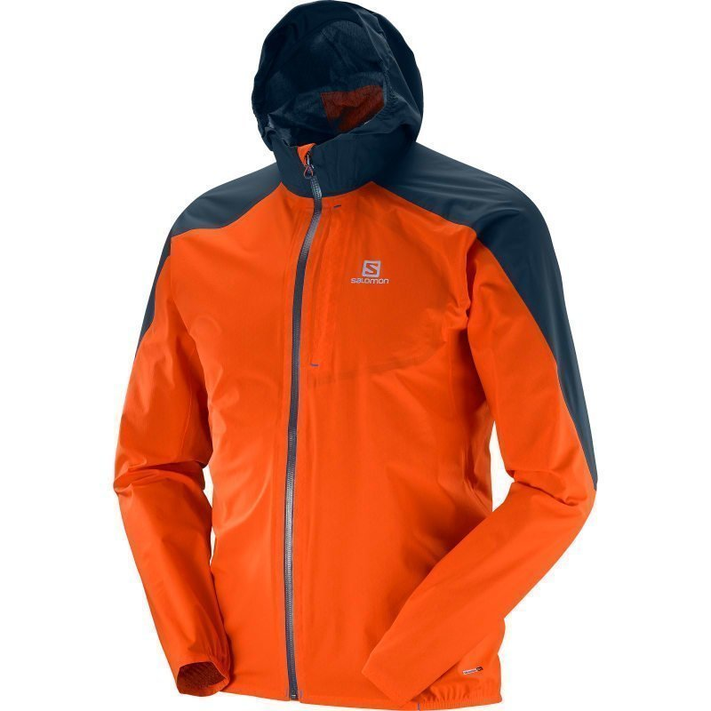 Salomon Bonatti Wp Jkt Men's 2XL Vivid Orangebig Blue-X