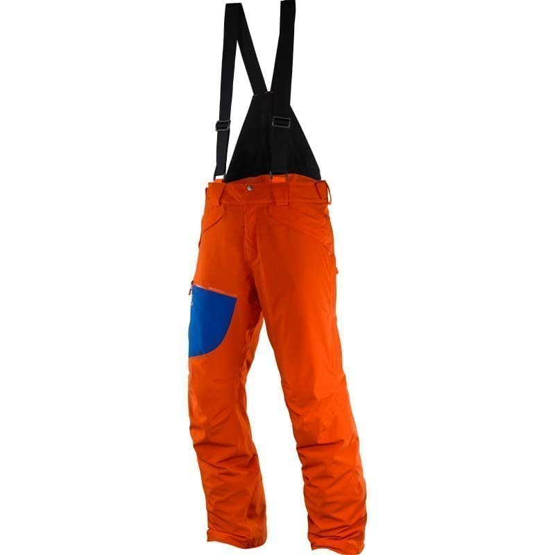 Salomon Chill Out Bib Pant M L/R Vivid Orangeblue Yonder