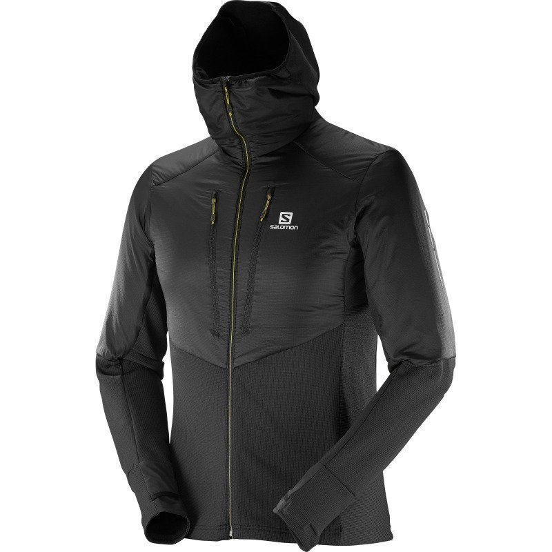 Salomon Drifter Air Mid Hoodie M L Black