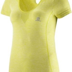 Salomon Elevate Seamless Tee Women Keltainen XL