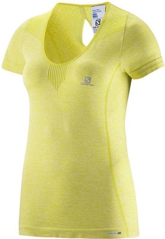 Salomon Elevate Seamless Tee Women Keltainen XL