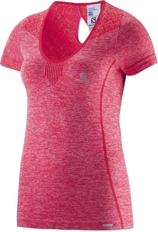 Salomon Elevate Seamless Tee Women Pink XL
