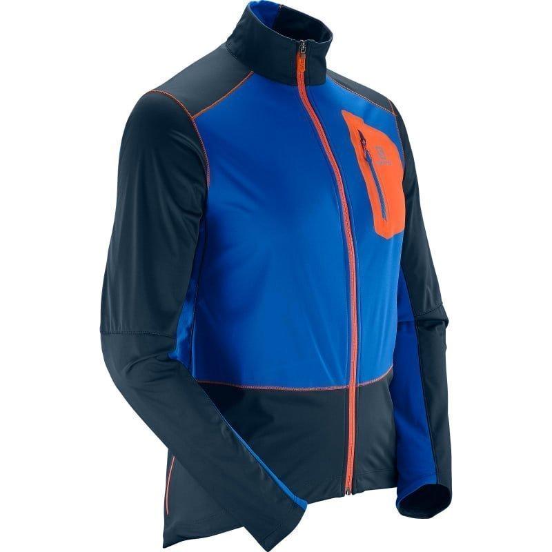 Salomon Equipe Softshell Jkt M L Big Blue-Xblue YonderV.Orange