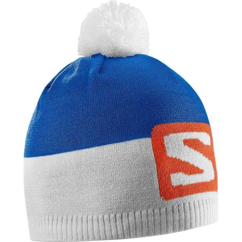 Salomon Escape Beanie OSFA Blue YonderWhiteVivid Orange