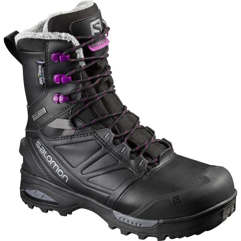 Salomon Toundra Pro Women's 6.5 Black / Black / Passion Purple