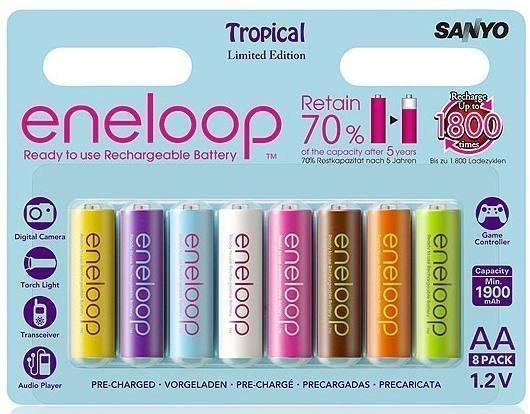 Sanyo Eneloop Tropic 8xAA Ni-MH