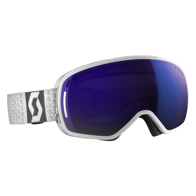 Scott Goggle LCG 1SIZE White/Solar Blue Chrome