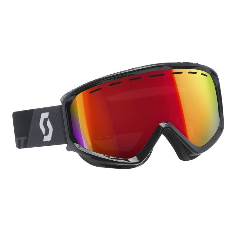 Scott Goggle Level 1SIZE Black/Amp Red Chrome