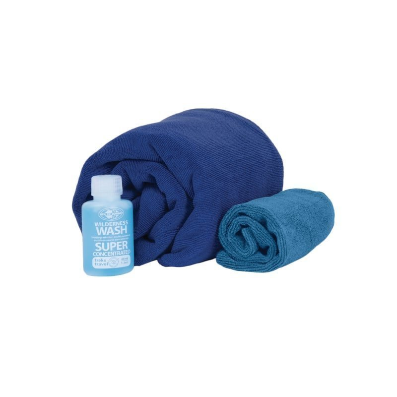 Sea to summit Tek Towel Wash Kit L ONE SIZE Cobalt Blue