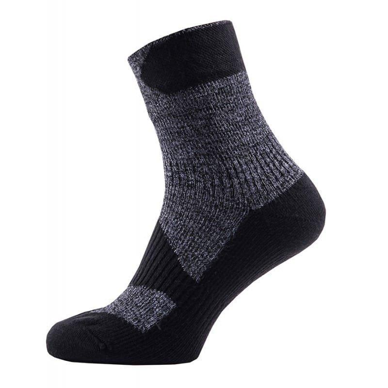 Sealskinz Walking Thin Ankle L Dark Grey/Black