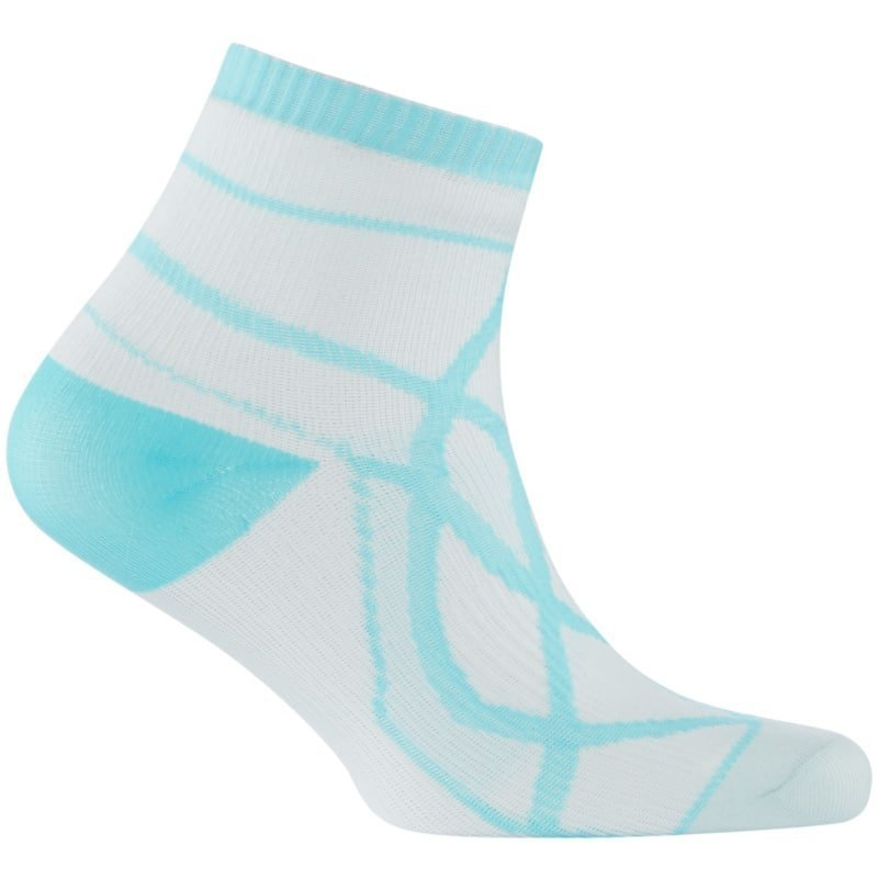 Sealskinz Womens Thin Socklet L White/Aqua