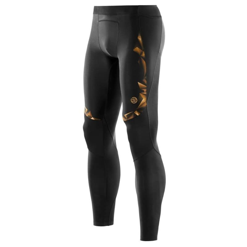 Skins A400 Mens Long Tights L Black/Gold