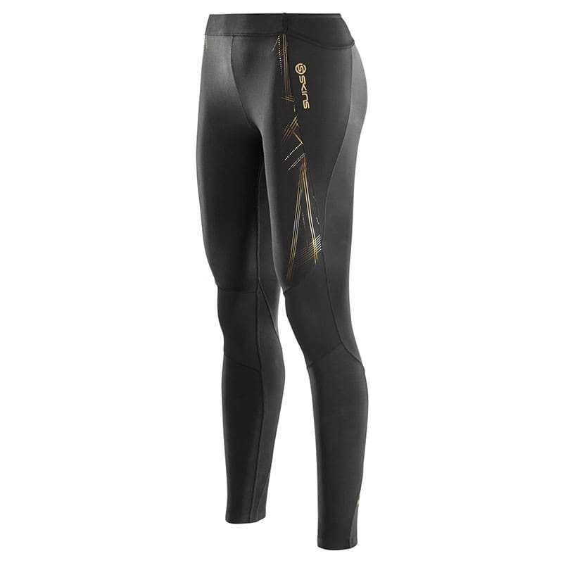 Skins A400 Womens Long Tights L Black/Gold