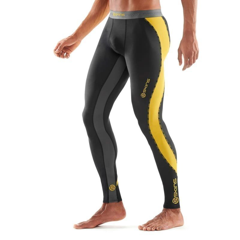 Skins DNAmic Men Long Tights S Black/Citron