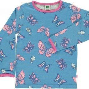 Småfolk Butterflies LS Vaaleansininen 3-4