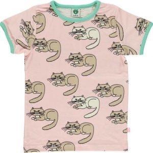 Småfolk Cat SS Vaaleanpunainen 2-3