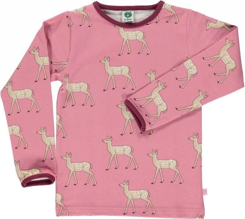 Småfolk Deer LS Vaaleanpunainen 2-3