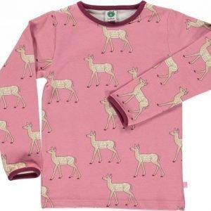 Småfolk Deer LS Vaaleanpunainen 3-4