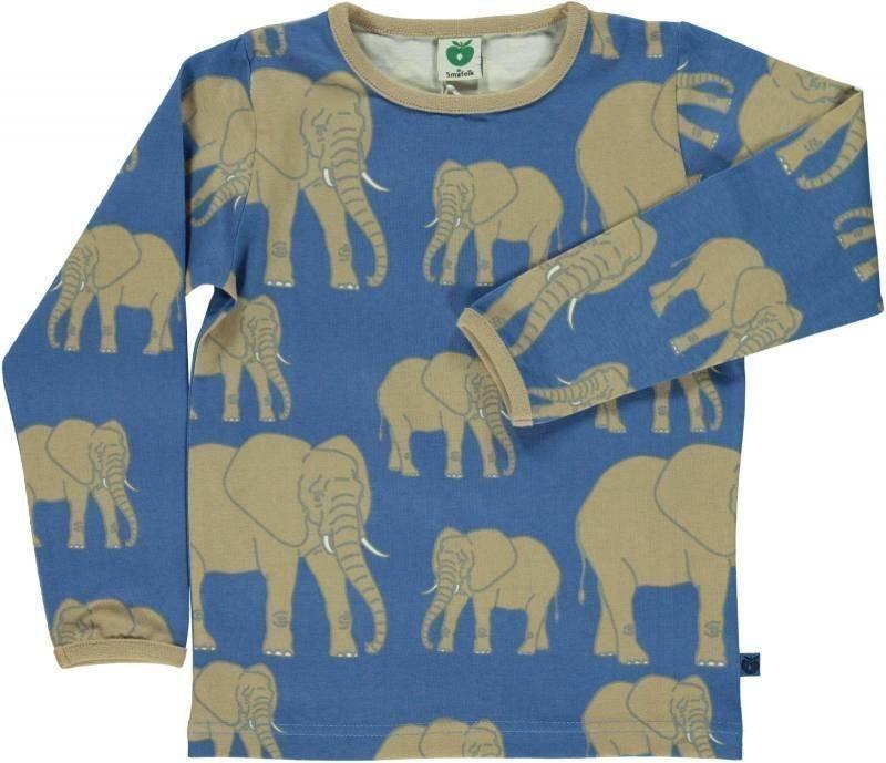 Småfolk Elefant LS Sininen 7-8