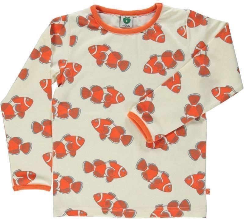 Småfolk Fish LS Cream 5-6