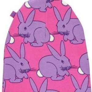 Småfolk Hood Beanie Print Purple S