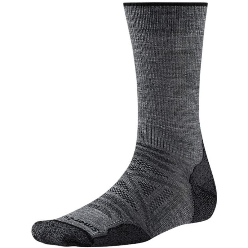 Smartwool Men's PhD Outdoor Light Crew L (42-45) Medium Grey