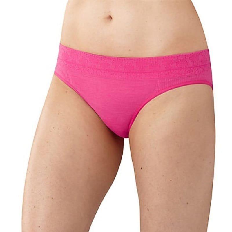 Smartwool Women's PhD Seamless Bikini L Bright Pink