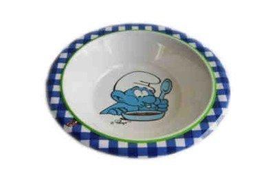 Smurffit syvä lautanen sininen