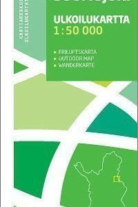 Sokosti Suomujoki 1:50 000 ulkoilukartta 2009 taitettu