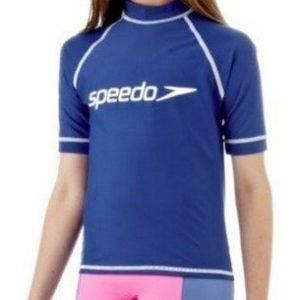 Speedo Hayden Sunstop tyttöjen uimapuku sininen/valkoinen