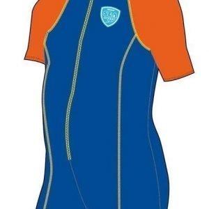 Speedo Hot Tot Suit vauvan uimapuku sininen/oranssi