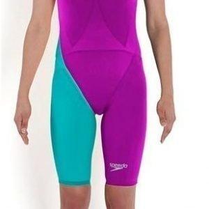 Speedo LZR Racer Elite 2 Clbk Kneeskin naisten uimapuku purppura/vaaleansininen