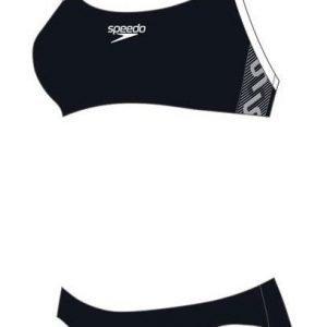 Speedo Monogram 2 Piece naisten uimapuku musta/valkoinen