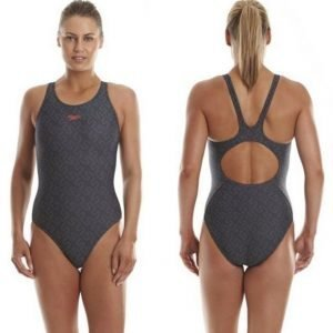 Speedo Monogram Allov Muscleback W AF naisten uimapuku musta/harmaa