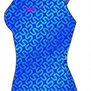 Speedo Monogram Allover Muscleback W naisten uimapuku sininen
