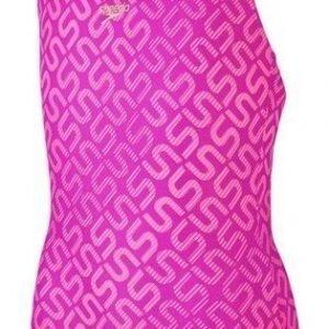 Speedo Monogram Allv Splashback girls swimsuit pink/purple