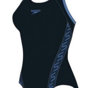 Speedo Monogram Muscleback naisten uimapuku musta/sininen