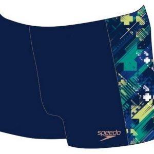 Speedo Panel Aquashort poikien uimahousu Allover.navy/sininen