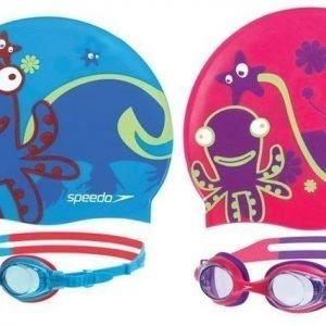 Speedo Sea Squad lasit ja hattu mustekala