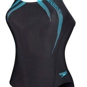 Speedo Sports Logo Medalist Naisten uimapuku musta/sininen
