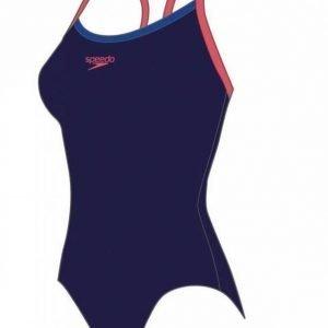 Speedo Thinstrap Muscleback naisten uimapuku t.sininen/punainen