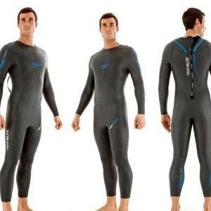 Speedo Tri-Comp Full Body Suit miesten uima-asu tumman harmaa