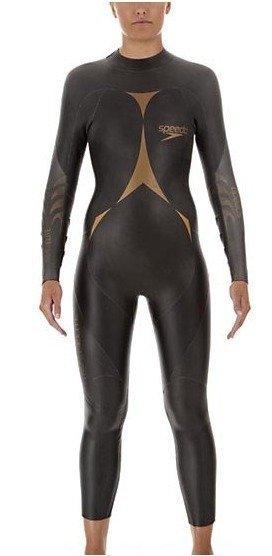 Speedo Tri-Pro F Full Body Suit naisten koko uimapuku tumman harmaa