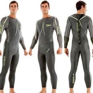 Speedo Tri-Pro Full Body Suit miesten uima-asu tumman harmaa