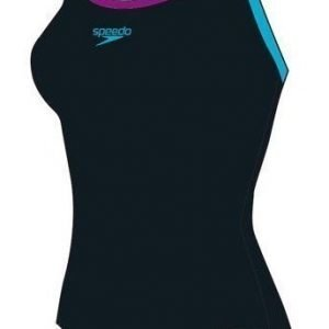 Speedo powerflash naisten uimapuku musta/sininen
