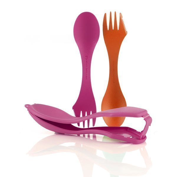 Sporks´n Case orange+fuchsia