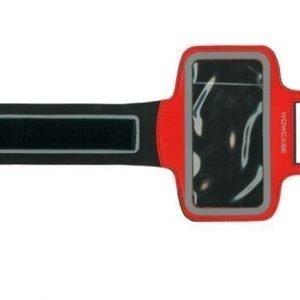 Sport Armband käsivarsikotelo älypuhelimelle punainen
