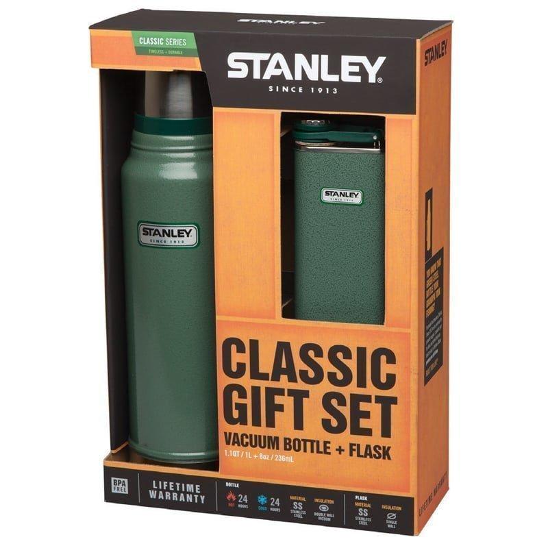 Stanley Classic 1L Bottle+Flask Gift 1L Hammertone Green