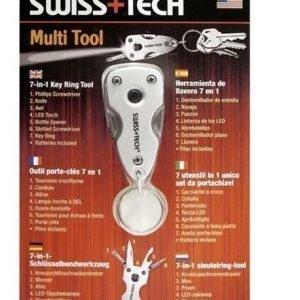 SwissTech Key Ring Multi Tool 7-in-1 Monitoimityökalu