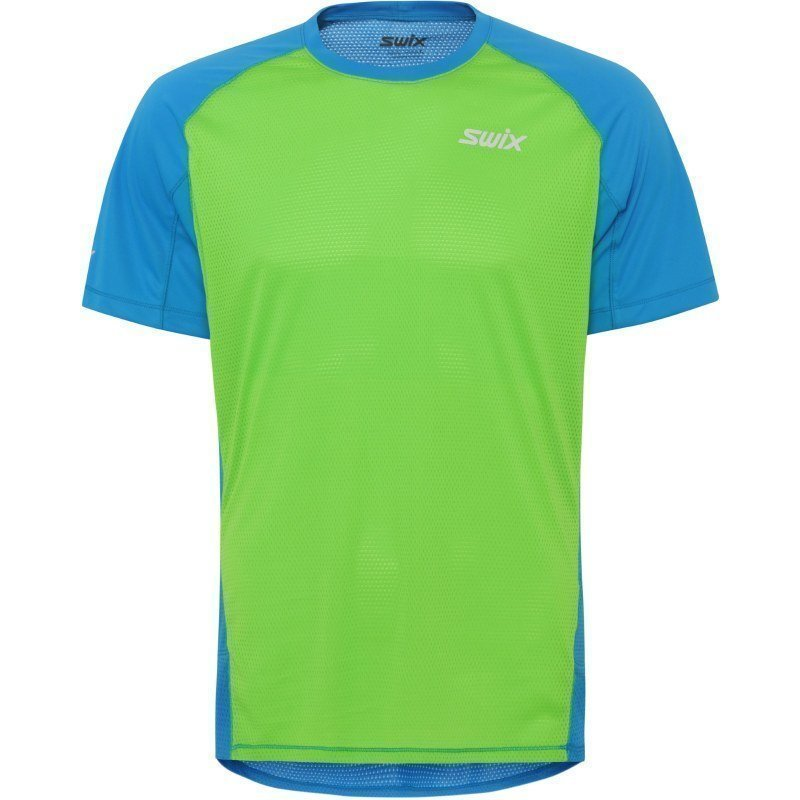Swix Airlight t-shirt Mens XXL COLD BLUE/LIME